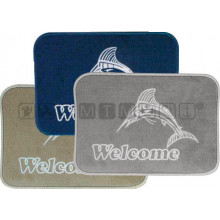 "Tappeto ""Welcome"" Blu"